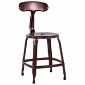 CHINTALY IMPORTS 8036-SC-COP Alfresco Collection Red Copper Galvanized Steel Side Chair
