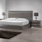CHINTALY IMPORTS DELHI-BED-QUEEN DELHI Gloss Grey Queen Bed