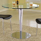 Chintaly Imports Grand-Cnt-Tb Grand Metal Chrome Counter Pub Table