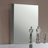 CHINTALY IMPORTS MANILA-MIR MANILA Gloss White & Grey Bedroom Accent Mirror
