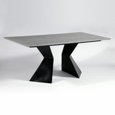 CHINTALY IMPORTS PHYLLIS-DT-TB PHYLLIS DINING Grey Solid Surface Dining Table