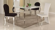 CHINTALY IMPORTS TERESA-DT-TB TERESA DINING Super White Starphire Glass Dining Table