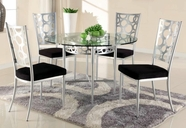 CHINTALY IMPORTS VERONICA-DT-TB CHINTALY IMPORTS VERONICA DINING Round Glass Dining Table