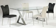 CHINTALY IMPORTS WHITNEY-DT-TB WHITNEY DINING Rectangular Glass Dining Table
