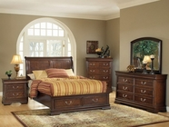 ACME 19450 Hennessy Brown Cherry Storage Bedroom Set