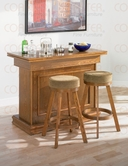 Coaster 100288-89 Oak Game And Bar Set