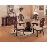 Coaster 101030-32 Cherry Glass Dining Set