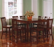 Coaster 101038WLN-4X39WLN Pines Counter Height Dining Set