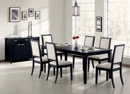 Coaster 101561-62 Dining Set in Distressed Black Finish