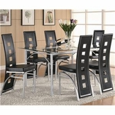 Coaster 101681-101682X4 Los Feliz Contemporary Metal Table Set