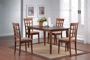 Coaster 101771-72 5 Piece Cross Back Dining Room Set
