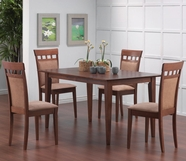 Coaster 101771-73 5 Piece Cross Back Dining Room Set