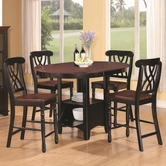 Coaster 102228-4X29 Addison Five-Piece Counter Height Table dining set