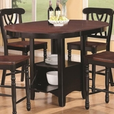 Coaster 102228 COUNTER HEIGHT TABLE (BLACK/CHERRY)