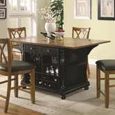 Coaster 102270 KITCHEN ISLAND (BLACK)