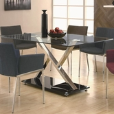 Coaster 102320 DINING TABLE (SILVER METAL)