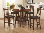 Coaster 102538-4X39 Knoxville 5 Piece Counter Height Round Table and Stool Set