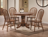 Coaster 102661-62 OAK DINING-TABLE-Chair Dining Set