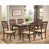 Coaster 102841-42 DINING-TABLEWALNUT-Chair 5 pc Dining Set