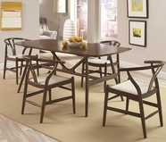Coaster 102851-52-DINING-TABLEWALNUT-Chair 5 Pc Dining Set