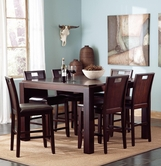 Coaster 102948-4X49 Prewitt Contemporary Counter Height Table and Chair Set