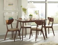 Coaster 103061-62 WALNUT DINING-TABLE-Chair