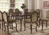 Coaster 103118-4X19 Andrea Traditional Pub Dining Set with Table Extension Leaf