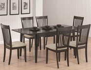 Coaster 103721-4X22 Rectangular Dining Table set