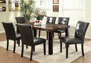 Coaster 103791-4x72 Orlando Dining Table & Upholstered Chairs Set