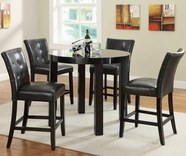 Coaster 103798-4X79 Maloy 5 Piece Pub Table Upholstered Stool Sets