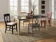 Coaster 103821-4X22BLK Holland 5-Piece Mix-and-Match Country Style Dining Set