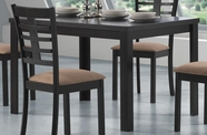 Coaster 103981-4X82 Kato Rectangular Table and Split Ladder Back Chair Casual Dining Set