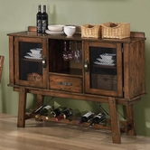 Coaster 103995 SERVER (RUSTIC OAK)