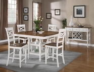 Coaster 104008-4X09 Ashley 5 Piece Counter Height Table Set