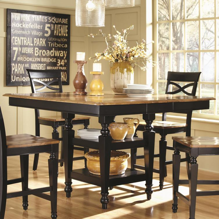 Illinois Modern Two Tone Large Round Dining Table With 8: 847-996-0800