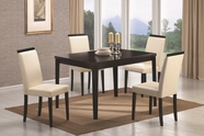 Coaster 104051-4X52 Pompeo 5 Piece Table & Chair Set