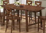 Coaster 104188 Counter Height Table (Rustic Oak)