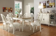 Coaster 104241-4X42 Rebecca-Dining-Table-Upholstered-Chairs-Set