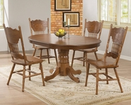 Coaster 104261-4x62 Brooks 5 Piece Table Set with Oak Finish Round/Oval Table