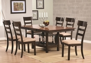 Coaster 104281-82 Dark Walnut Dining-Tablelight-Chair Dining Set