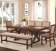 Coaster 104291-92 WALNUT DINING-TABLE-Chair