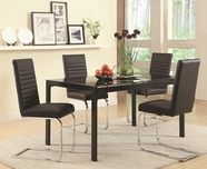 Coaster 104311-12 BLACK DINING-TABLE-Chair Set