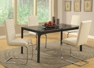 Coaster 104311-13 BLACK DINING-TABLE-White-Chair Dining Set