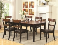 Coaster 104331-32 Rich-Black-Deep-Brown Dining-Table-Chair