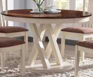 "Coaster 104341 42"" ROUND DINING TABLE (RUSTIC PECAN/BUTTERMILK)"
