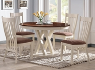 Coaster 104341-42 RUSTIC-PECAN-BUTTERMILK 42ROUND-DINING-TABLE-Chair Dining Set