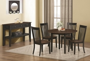 Coaster 104351-52 OAK-BLACK-SAND DINING-TABLE-Chair Dining Set