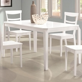 Coaster 104361 RECTANGULAR DINING TABLE (WHITE)