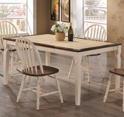 Coaster 104381 DINING TABLE (DARK OAK/ANTIQUE WHITE)