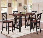 Coaster 104501-4X02 Makelim 5 Piece Counter Height Table and Chair Set